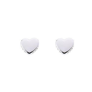 Ted Baker Harly Tiny Heart Silver Stud Earrings  - Click to view larger image