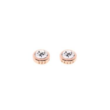 Ted Baker Sinaa Crystal Rose Gold Stud Earrings