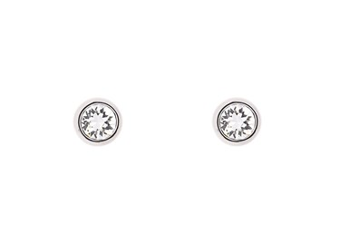 Ted Baker Sinaa Crystal Silver Stud Earrings  - Click to view larger image