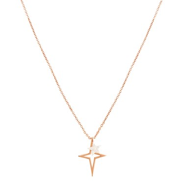 Karma Guiding Star Rose Gold Necklace  - Click to view larger image