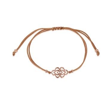 Karma Rose Gold Arabesque Pull Bracelet  - Click to view larger image