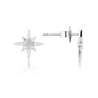 Karma North Star Stud Earrings  - Click to view larger image