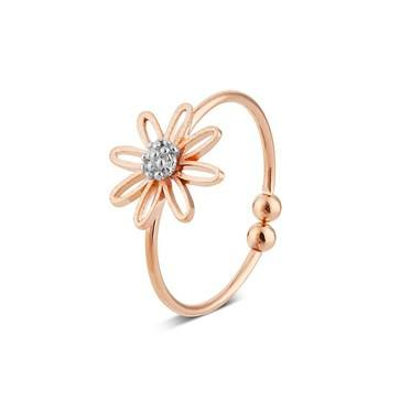 Karma Rose Gold Daisy Ring  - Click to view larger image