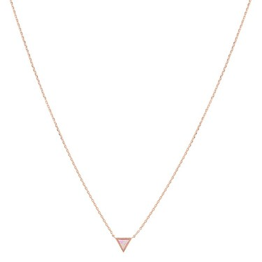 Karma Rose Gold Pink Tri Opal Necklace  - Click to view larger image