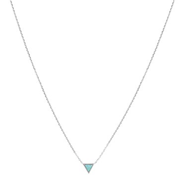 Karma Silver Green Tri Opal Necklace  - Click to view larger image