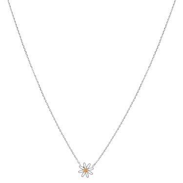 Karma Silver Daisy Necklace  - Click to view larger image
