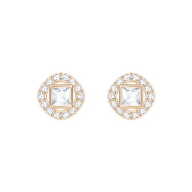 Swarovski Angelic Square Rose Gold Earrings  - Click to view larger image