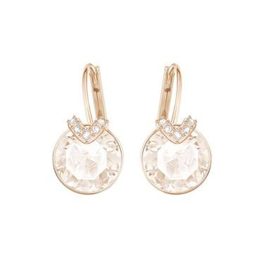 Swarovski Small Bella V Rose Gold & Pink Earrings  - Click to view larger image