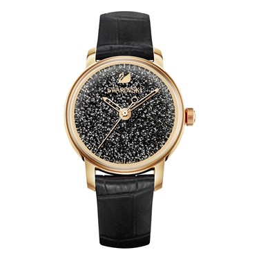 Swarovski Crystalline Hours Black Watch  - Click to view larger image