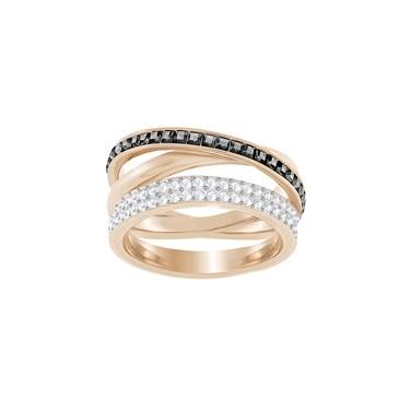 Swarovski Hero Grey & Rose Gold Ring