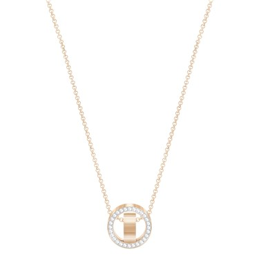 Swarovski Hollow Small Rose Gold Crystal Pendant  - Click to view larger image