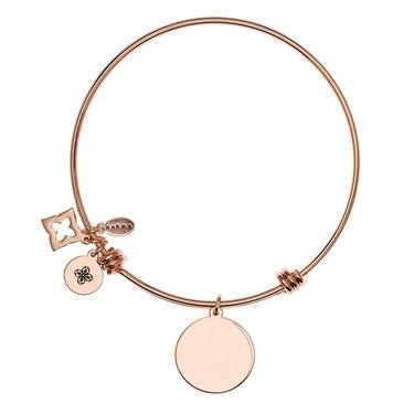 Karma Karma Rose Gold Engraving Bangle  - Click to view larger image