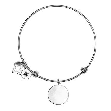 Karma Karma Silver Engraving Bangle  - Click to view larger image