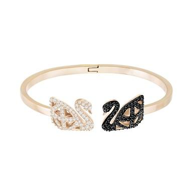 Swarovski Facet Swan Bangle  - Click to view larger image