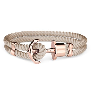 Paul Hewitt Rose Gold & Hazelnut Phrep Bracelet  - Click to view larger image