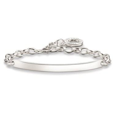 Thomas Sabo Engravable Silver Bracelet  - Click to view larger image
