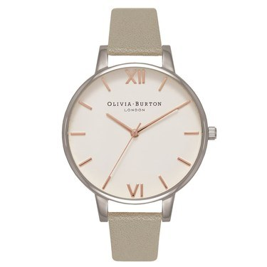Olivia Burton Grey, Silver & Rose Gold Watch  - Click to view larger image