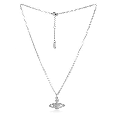 Vivienne Westwood Clotilde Silver Orb Pendant  - Click to view larger image