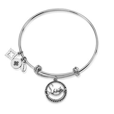 Karma Silver Sister Bangle  - Click to view larger image