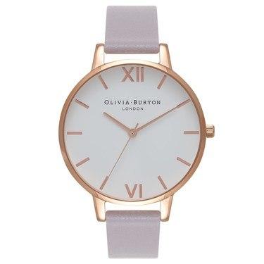 0f5e44689 Olivia Burton Big Dial Grey Lilac & Rose Gold Watch - Click to view larger  image