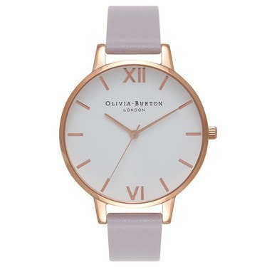 Olivia Burton Big Dial Grey Lilac & Rose Gold Watch  - Click to view larger image