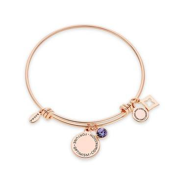 Karma December Birthstone Rose Gold Bangle   - Click to view larger image