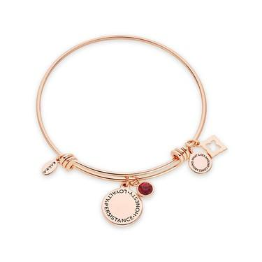 Karma January Birthstone Rose Gold Bangle   - Click to view larger image