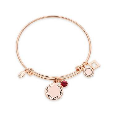Karma July Birthstone Rose Gold Bangle   - Click to view larger image