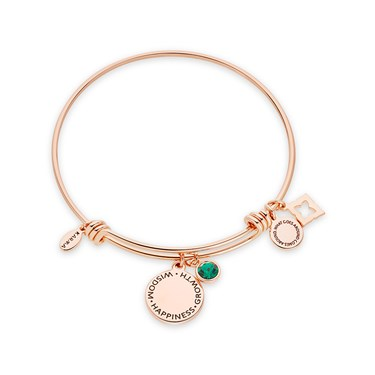 Karma May Birthstone Rose Gold Bangle   - Click to view larger image