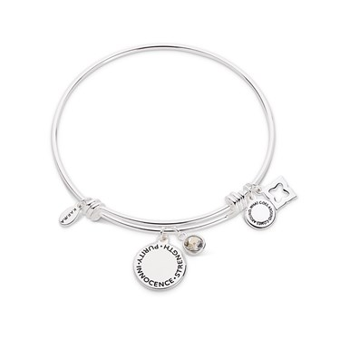 Karma April Birthstone Bangle   - Click to view larger image