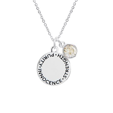 Karma April Birthstone Necklace   - Click to view larger image