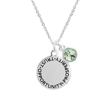 Karma August Birthstone Necklace   - Click to view larger image