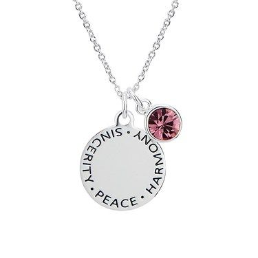 mother with name s necklace diamond products charms birthstone mothers gemstones stone cascade