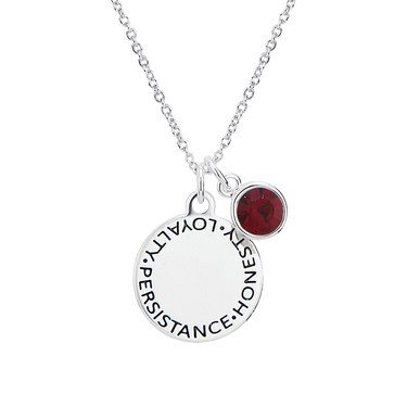 Karma January Birthstone Necklace   - Click to view larger image
