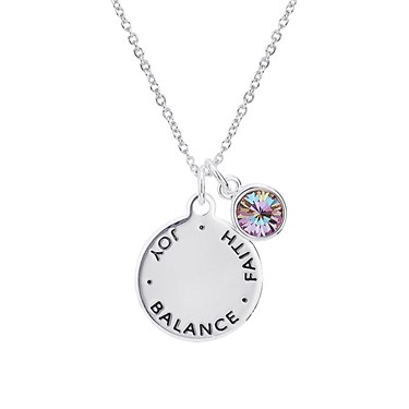 Karma June Birthstone Necklace   - Click to view larger image