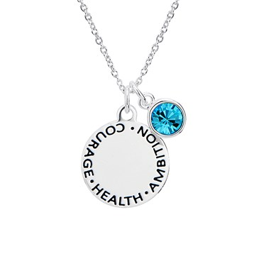 Karma March Birthstone Necklace   - Click to view larger image