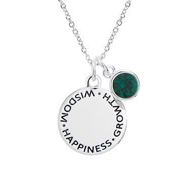 Karma May Birthstone Necklace   - Click to view larger image