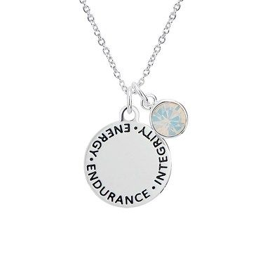 Karma October Birthstone Necklace   - Click to view larger image