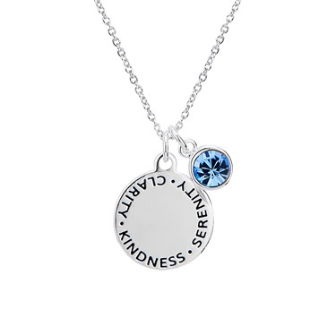 Karma September Birthstone Necklace   - Click to view larger image