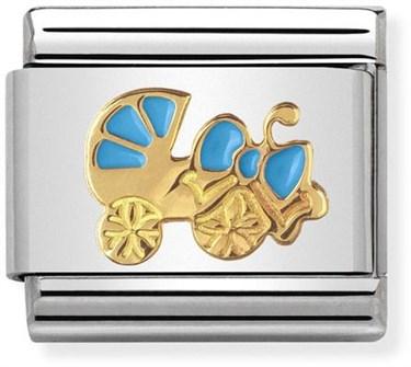154cfd96fb832 Blue Pram Charm