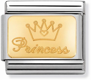 Nomination Gold Princess Charm  - Click to view larger image