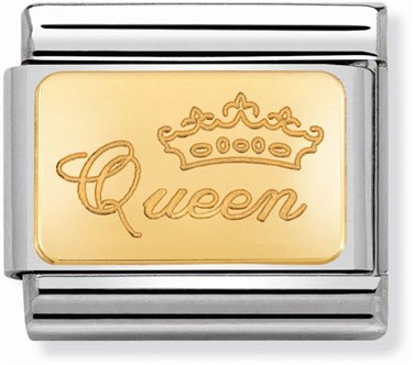 Nomination Gold Queen Charm  - Click to view larger image