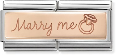 Nomination Rose Gold Marry Me Double Charm  - Click to view larger image