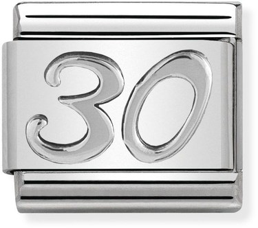 Nomination Oxidised Silver 30 Birthday Charm  - Click to view larger image