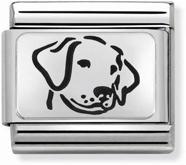 Nomination Silver Dog Charm  - Click to view larger image
