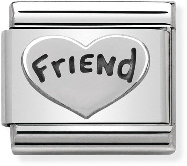 Nomination Silver Friend Charm  - Click to view larger image
