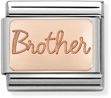 Nomination Rose Gold Brother Charm  - Click to view larger image