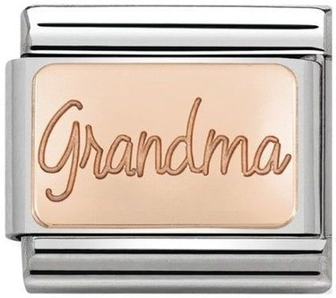 Nomination Rose Gold Grandma Charm  - Click to view larger image