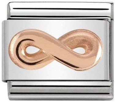 Nomination Rose Gold Infinity Charm  - Click to view larger image