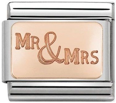 Nomination Rose Gold Mr & Mrs Charm  - Click to view larger image